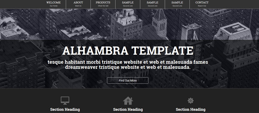 Web Template - Alhambra