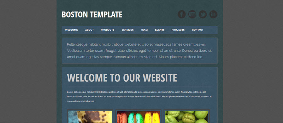Web Template - Boston