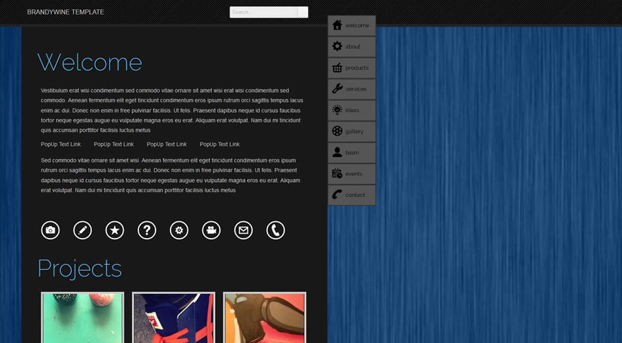 Brandywine Website Template