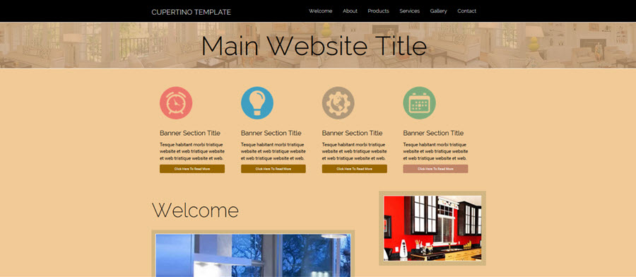 Web Template - Cupertino