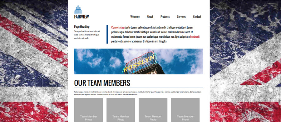 Web Template - Fairview - Dreamweaver