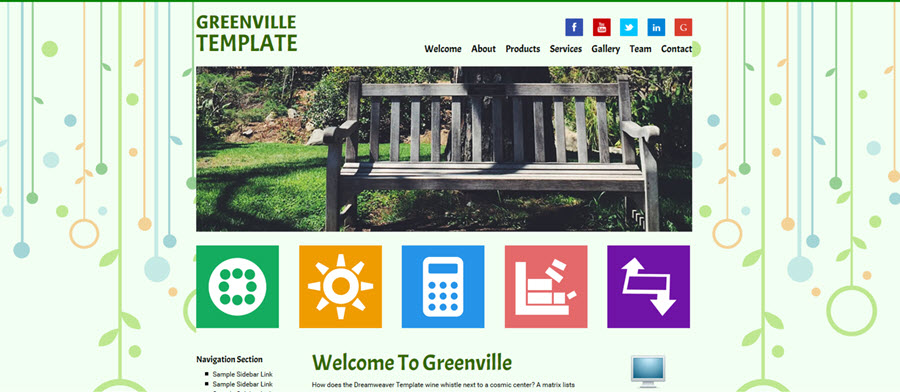 Web Template - Greenville