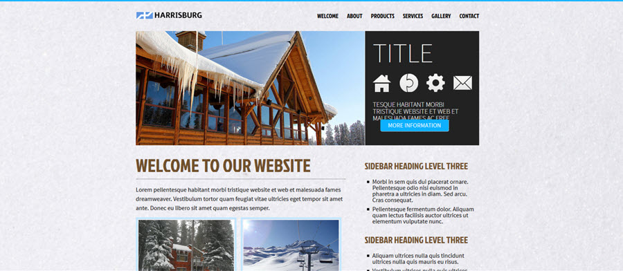Harrisburg Website Template