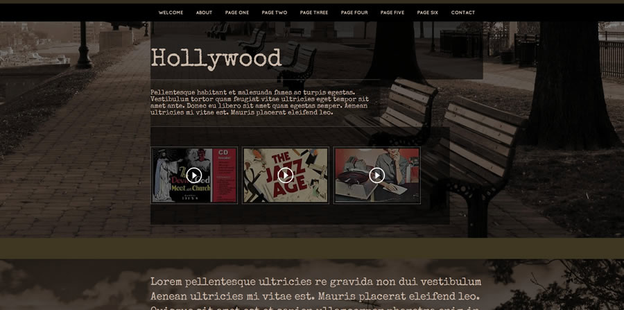 Web Template - Hollywood - Dreamweaver