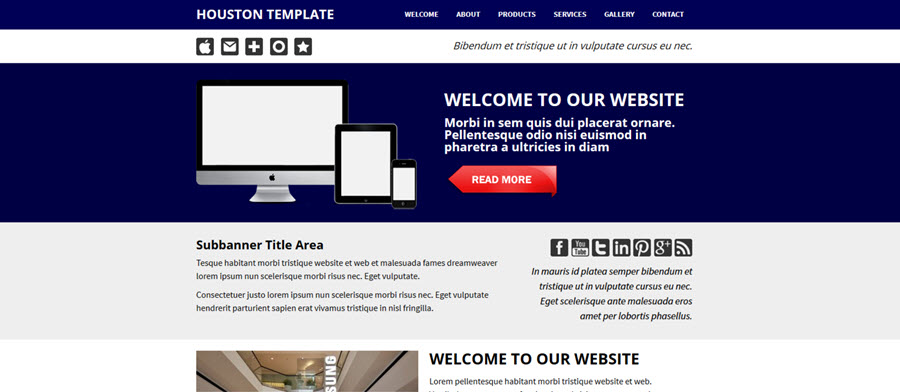 Web Template - Houston