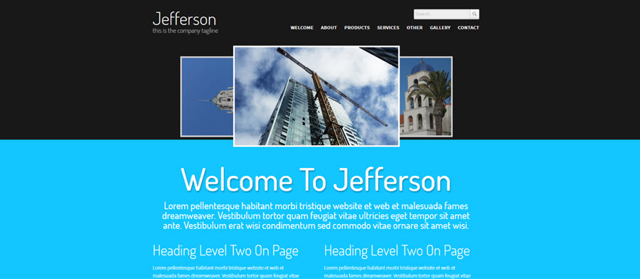 Web Template - Jefferson - Dreamweaver