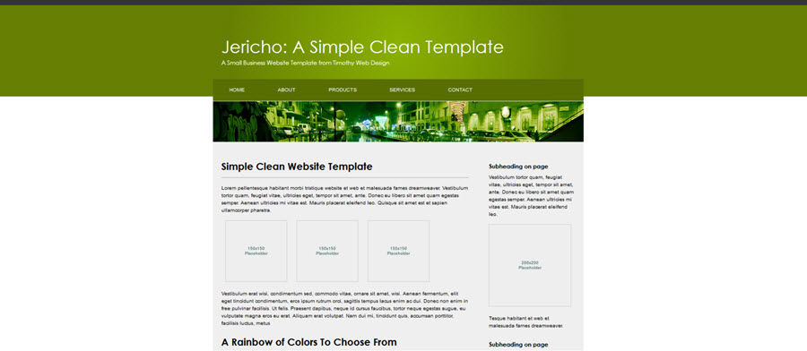 Jericho Website Template