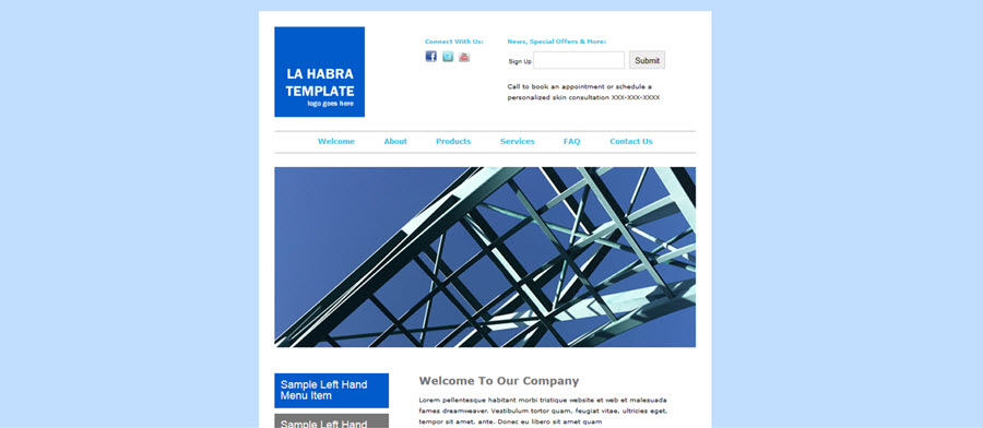 La Habra Website Template