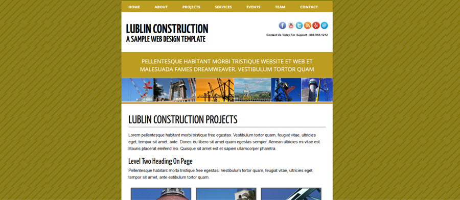 Web Template - Lublin - Expression Web