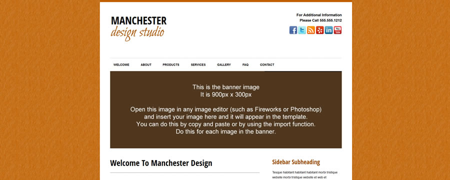 Web Template - Manchester