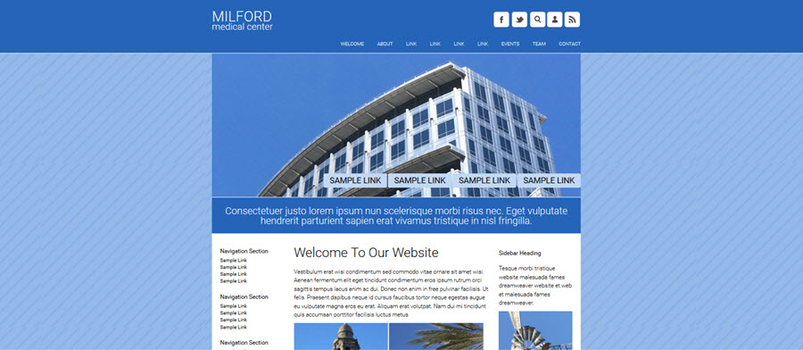 Milford Website Template