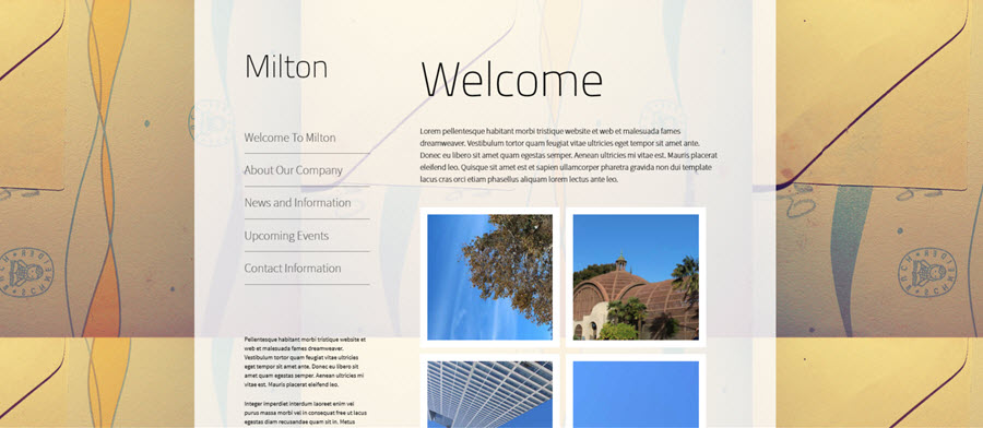 Web Template - Milton