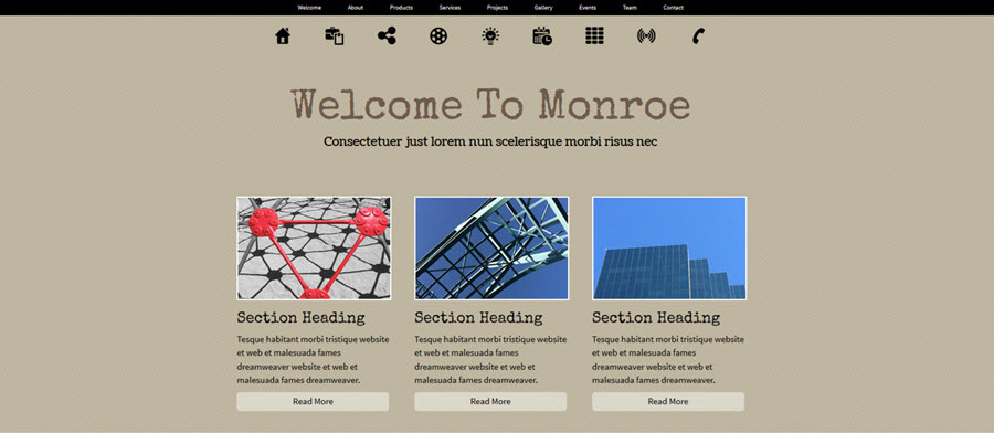 Web Template - Monroe - Expression Web