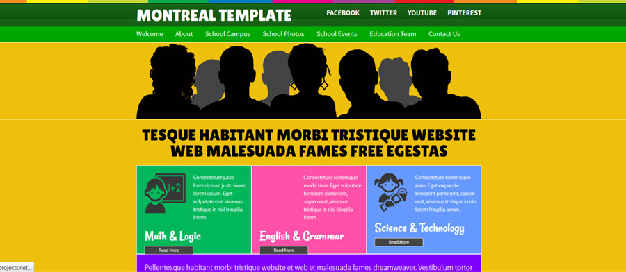 Web Template - Montreal