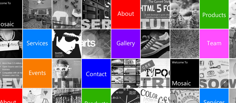 Web Template - Mosaic