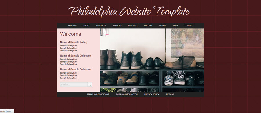 Web Template - Philadelphia