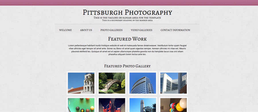 Web Template - Pittsburgh - Dreamweaver