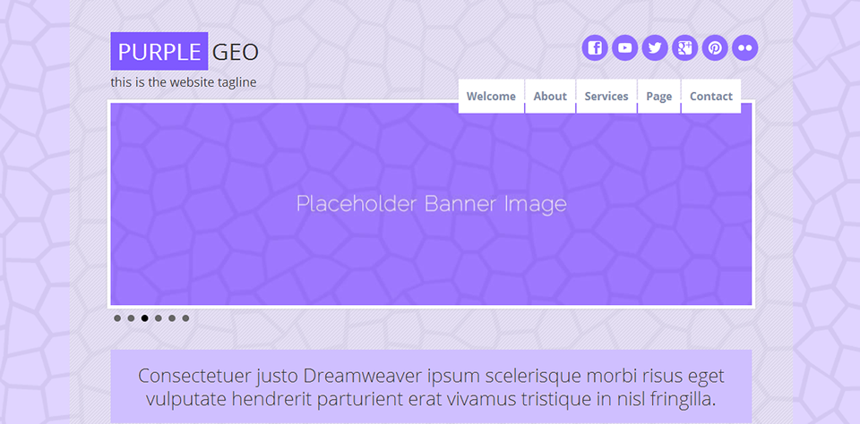 purple geoe - Web Template