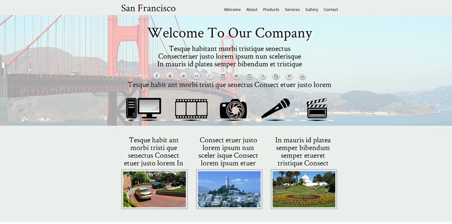 Web Template - Samfrancisco