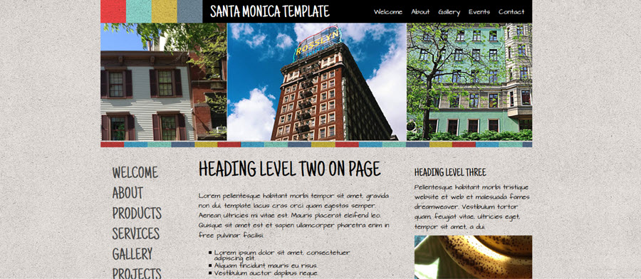 Web Template - Santamonica