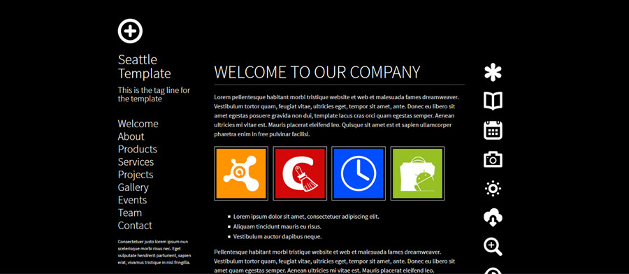 Web Template - Seattle