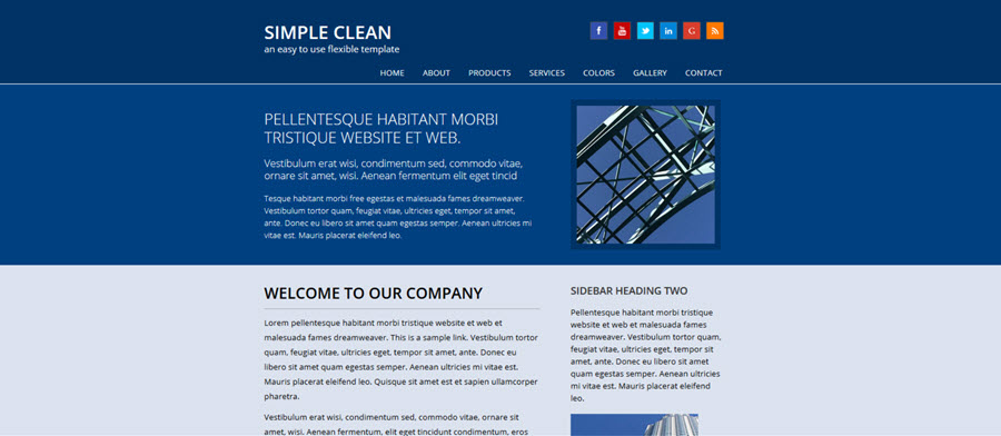Web Template - Simpleclean